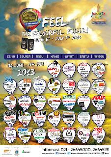 Jadwal Konser Pekan Raya Jakarta 2013