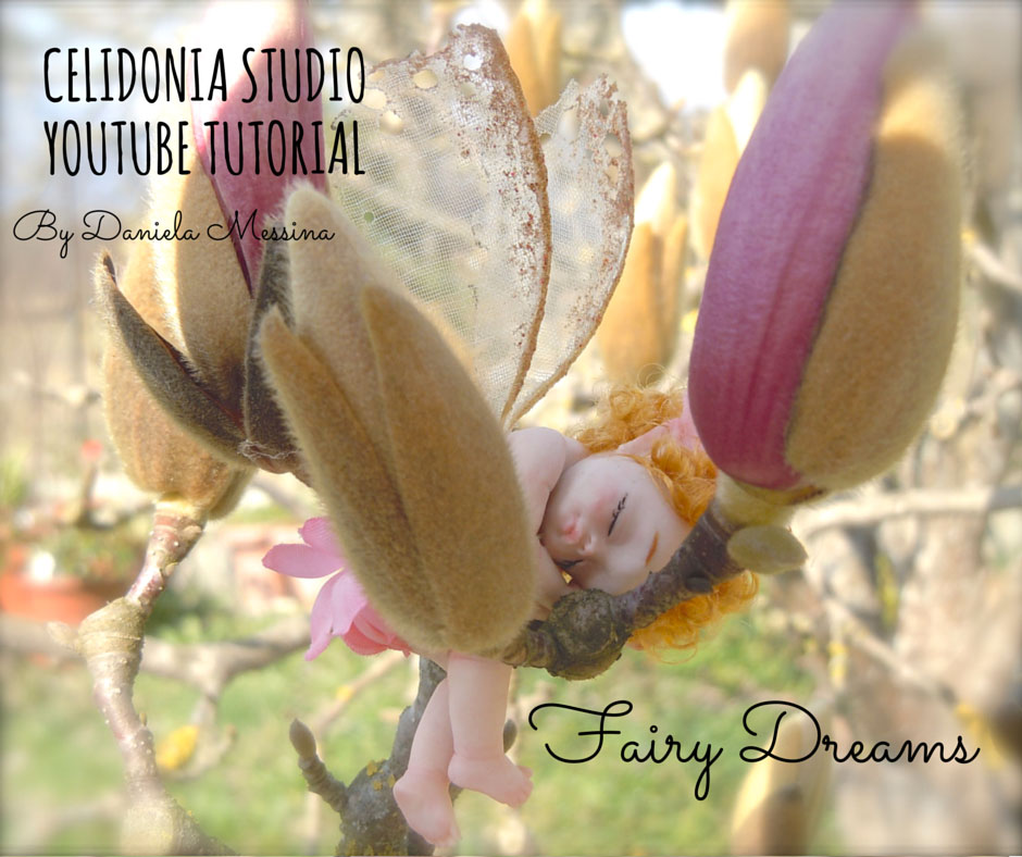 Sleeping Fairy, La Fatina Addormentata - Tutorial Pasta Sintetica
