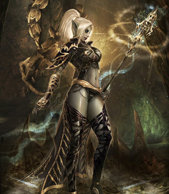kiumba feminina das trevas, dragões e magos negros