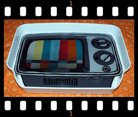 Retro TV Melamine Tray - Photo by Rebecca D. Dillon
