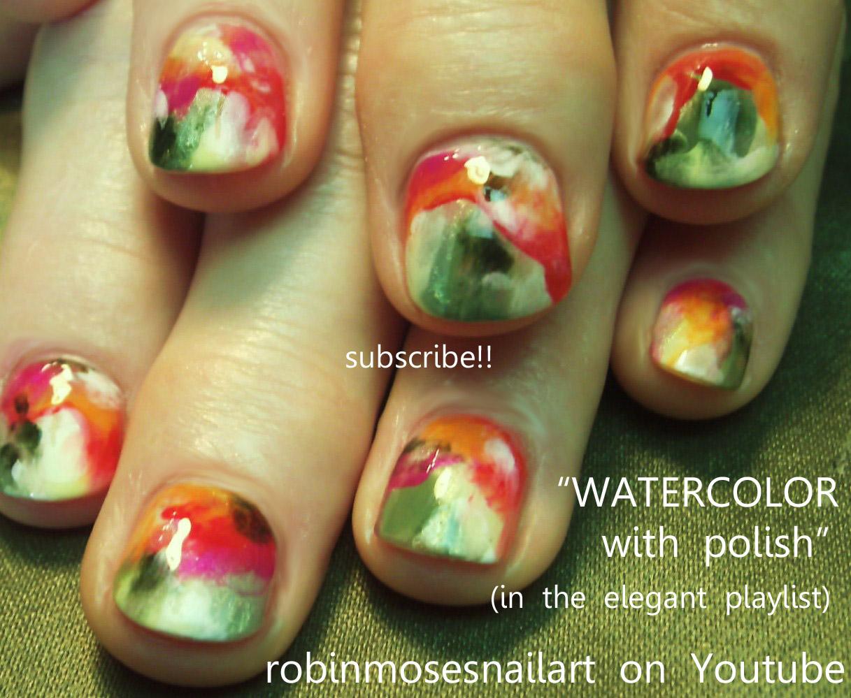 monkey nails, monkey banana nail, watercolor impressionism, nail art ...