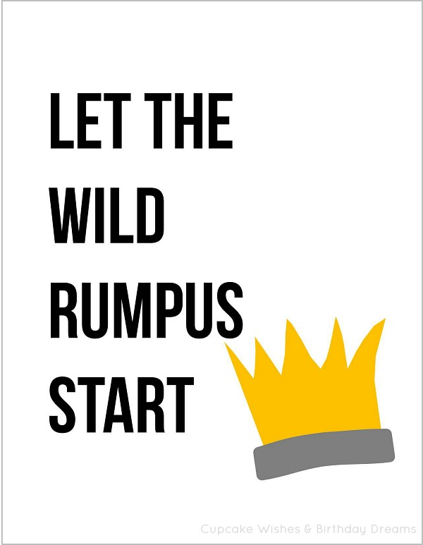 Crazy image with regard to let the wild rumpus start printable