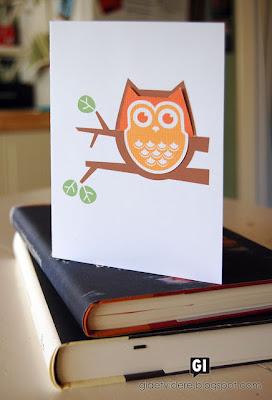 Cartão e Marca-Página de Coruja - Scrap com Molde e PAP (DIY)