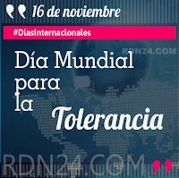 Día Mundial para la Tolerancia #DíasInternacionales