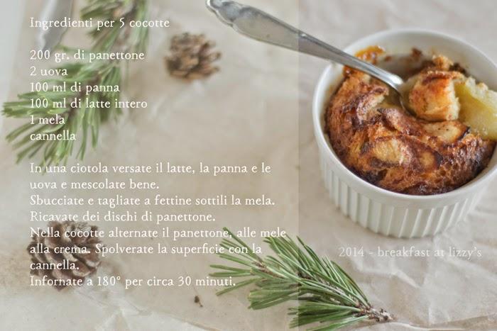 pudding panettone, mele e cannella