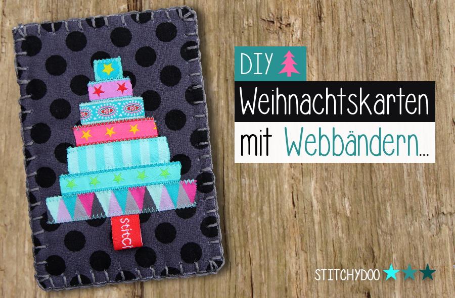 stitchydoo diy weihnachtskarten mit webb ndern. Black Bedroom Furniture Sets. Home Design Ideas