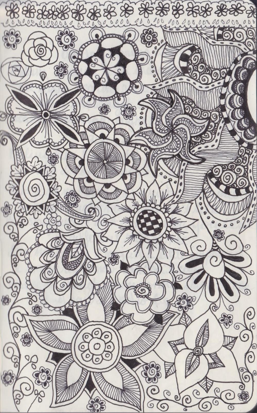 Somber Scribbler Doodles
