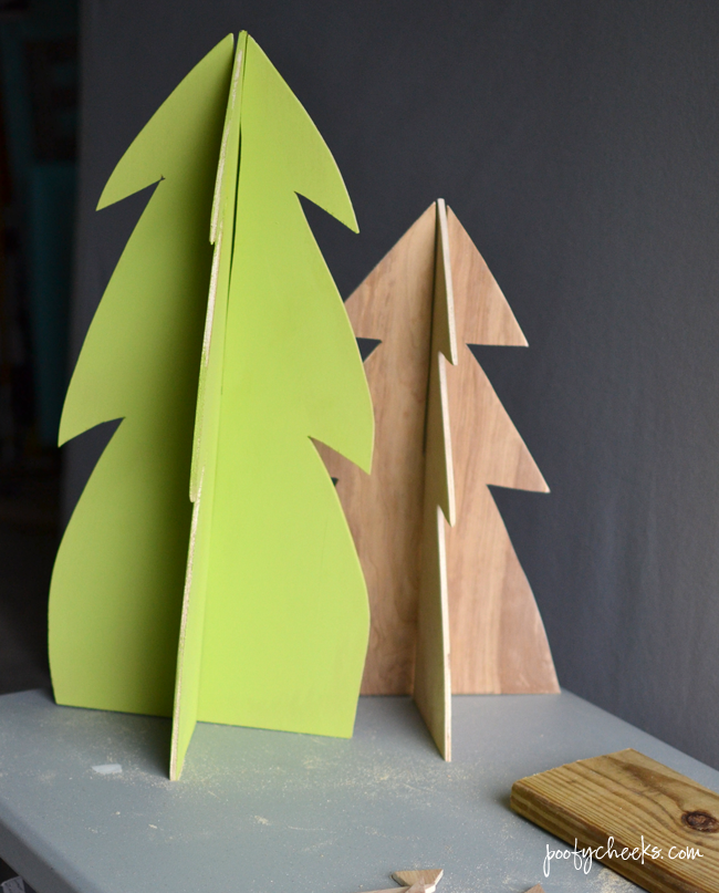 DIY 3D Wooden Christmas Trees