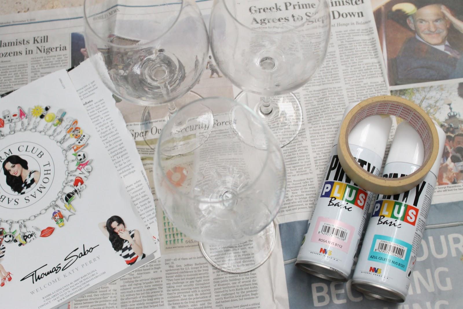 DIY DecoraciónCopa de vino color pastel Boulevard Pink