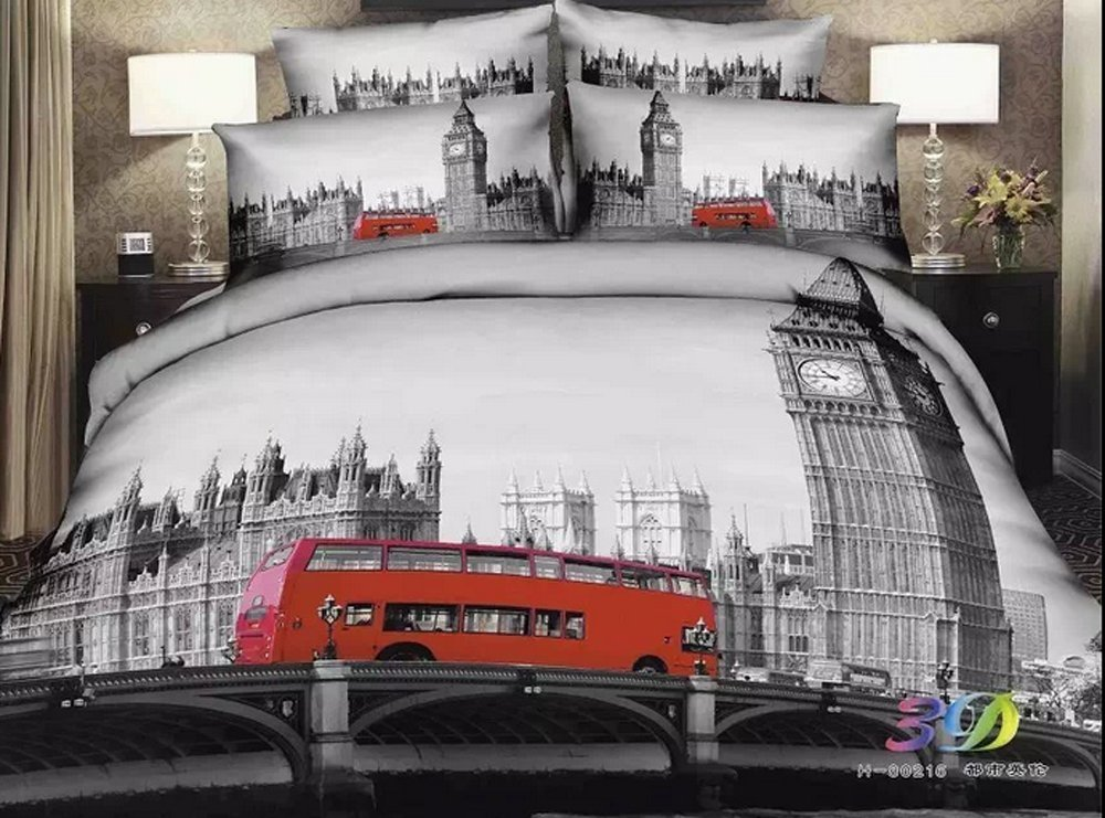 London themed bedding room decor for City themed bedroom designs
