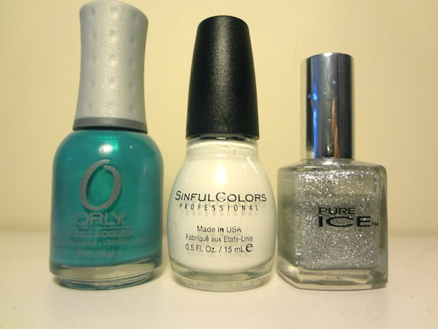 orly bailamos, sinful colors snow me white, pure ice beware