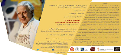 Art News: Film Screening on Krishen Khanna