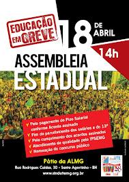 Assembleia Estadual 18 de abril de 2018 em Governador Valadares.