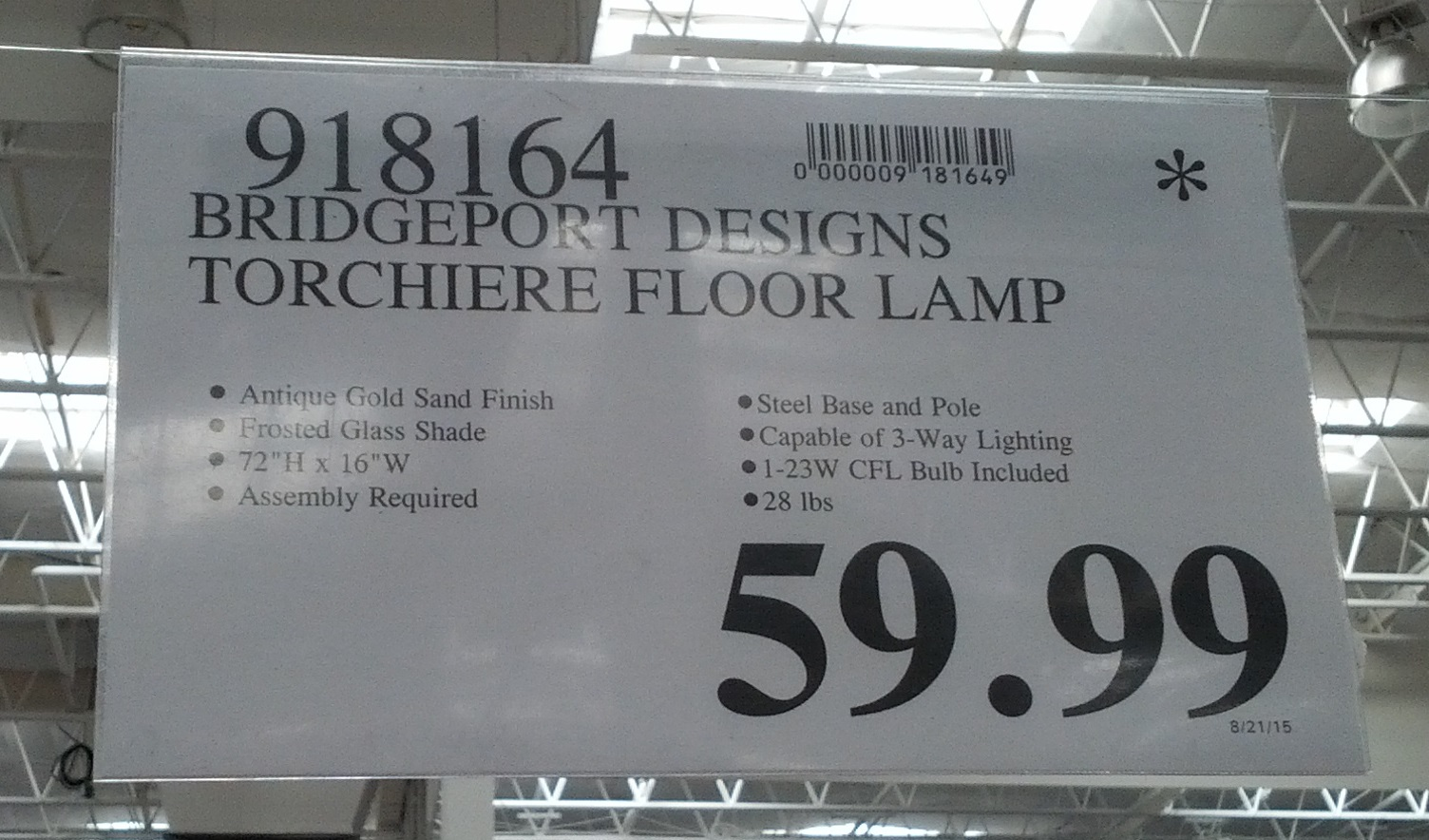 Deal For The Bridgeport Designs Torchiere Floor Lamp At Costco