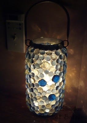 Shades of Safhire: Glass Bead Night Light
