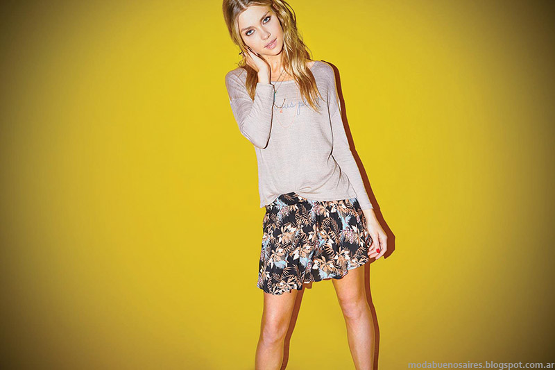 Cuesta Blanca moda 2015. Faldas de moda 2015.