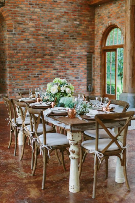 ideas para vestir una mesa de boda de otoño