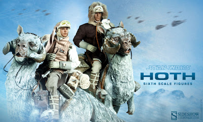 "Sideshow Collectibles Star Wars 1/6 Scale Han in Hoth Gear & Luke in Hoth Gear 12"" Figures (promo picture)"