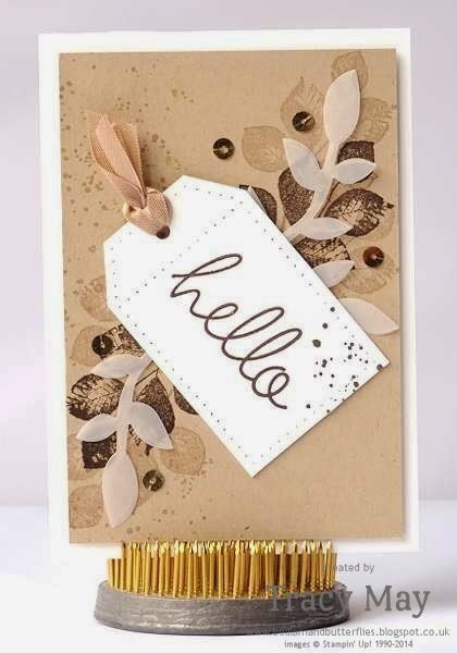stampin up uk independent demonstrator Tracy May kinda eclectic flower frenzy card