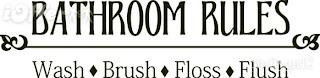 Bathroom Wall Words Vinyl