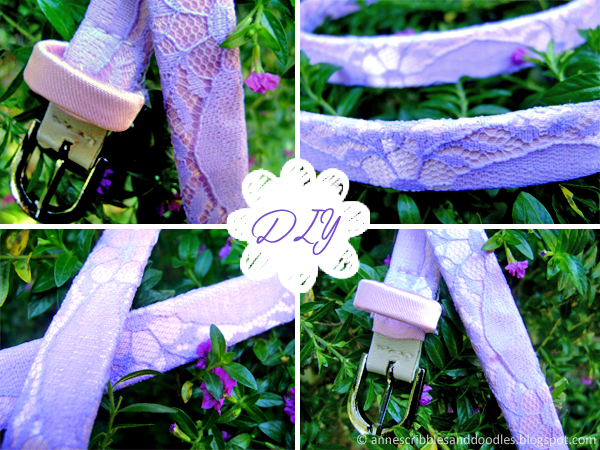 DIY Lace Belt: Playing With Pastels