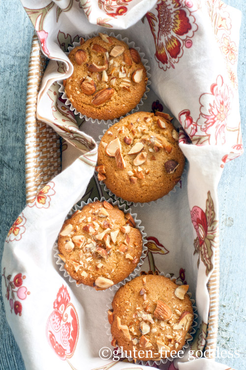 Gluten Free Orange Almond Muffins - vegan and gluten-free