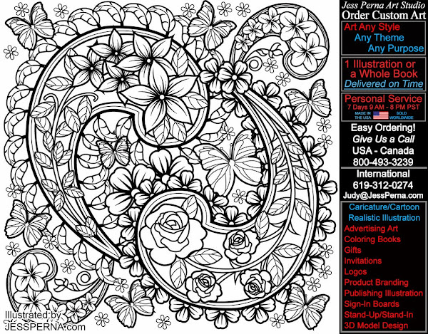 Adult Paisley Coloring Page