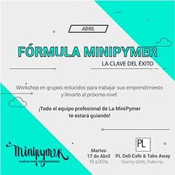 Fórmula MiniPymer, ¡nueva charla!