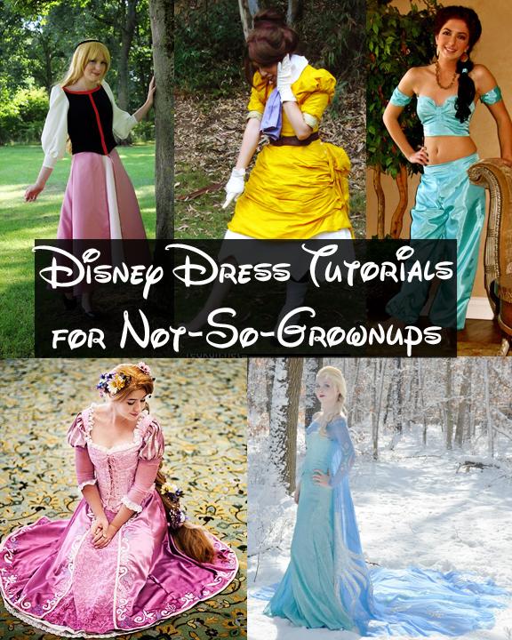 Happily grim disney dress tutorials for not so grownups - Costume princesse disney adulte ...