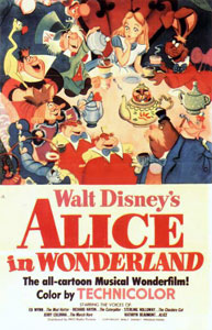 Original film poster Alice in Wonderland 1951 animatedfilmreviews.blogspot.com