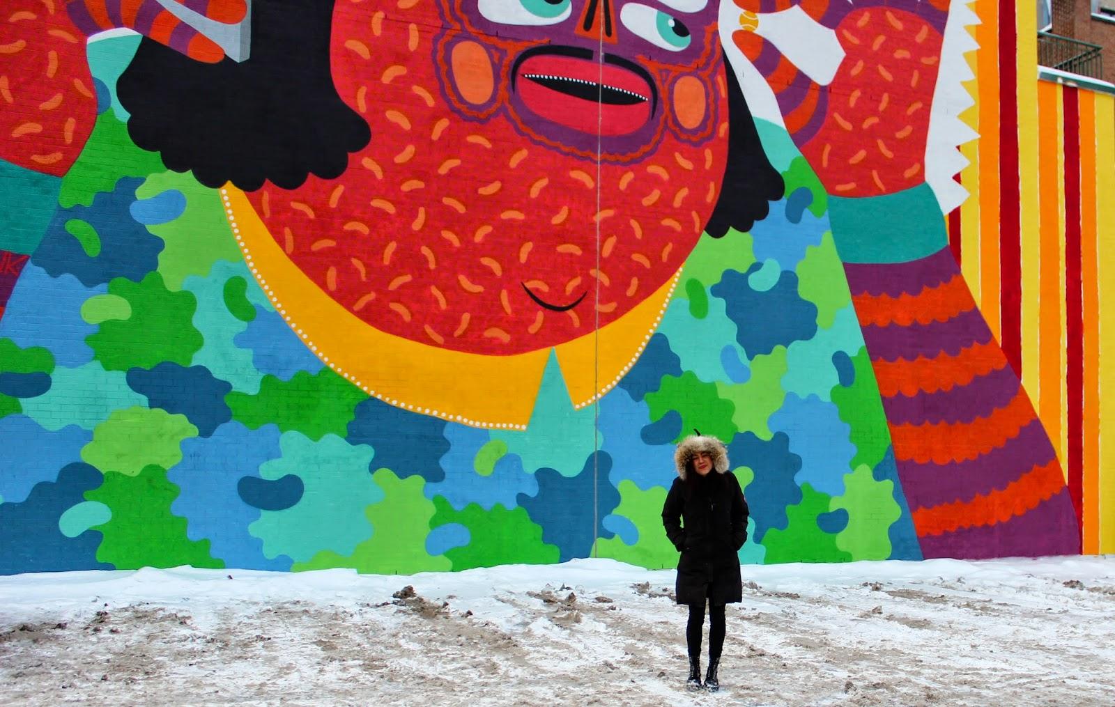 KASHINK street art mural festival fashion blog st laurent nightlife montreal bars canada goose fashion style