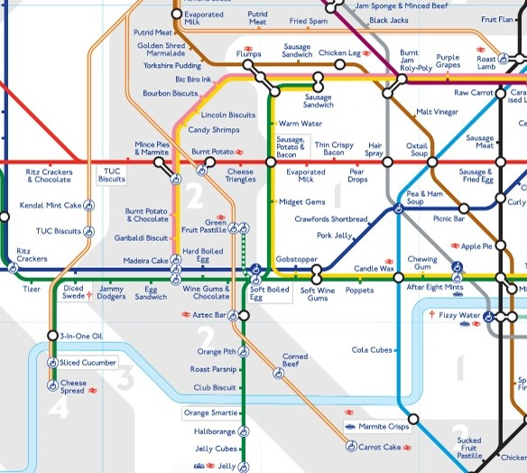 London Underground - Taste Map