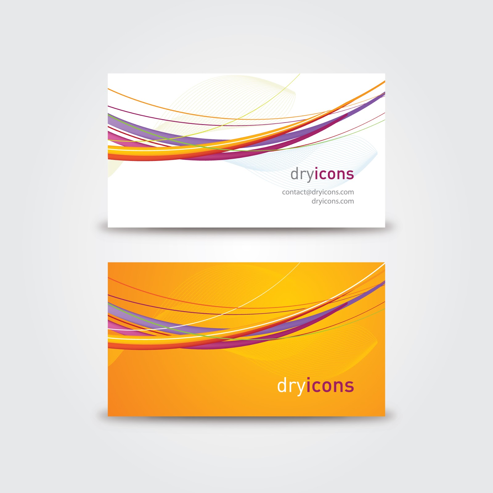 Vector business card templates for Business card eps template