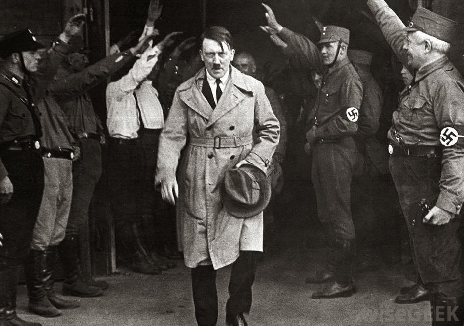 Albert Einstein came to the US when Adolph Hitler rose to power.