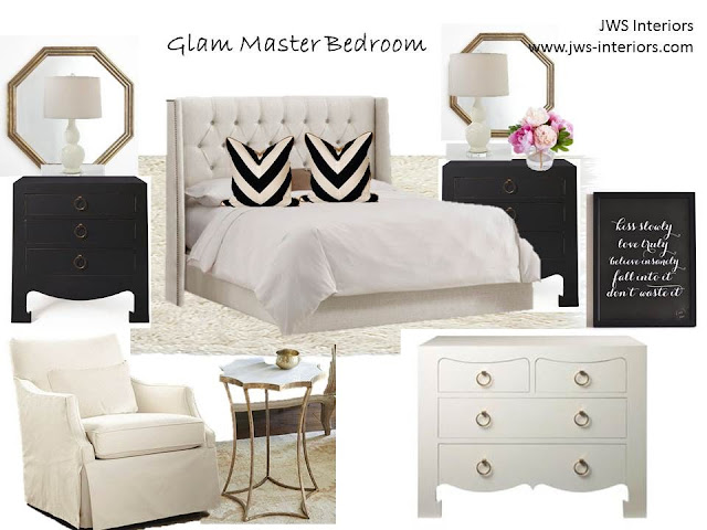 Jws Interiors Glam Master Bedroom Design Board