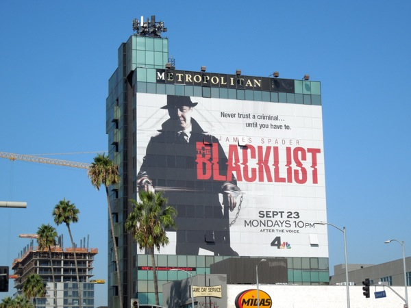 The Blacklist giant series premiere billboard
