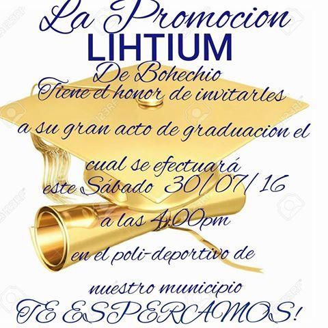 Sábado 30 graduacion Liceo Bohechío