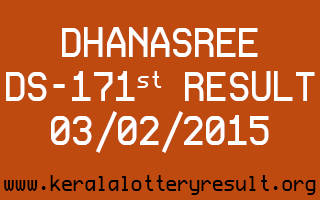 DHANASREE Lottery DS-171 Result 03-02-2015