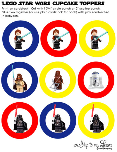 Enjoy these free printable cupcake toppers perfect for your next Lego  title=