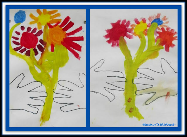photo of: Picasso Bouquet Artwork Created in Kindergarten via RainbowsWithinReach