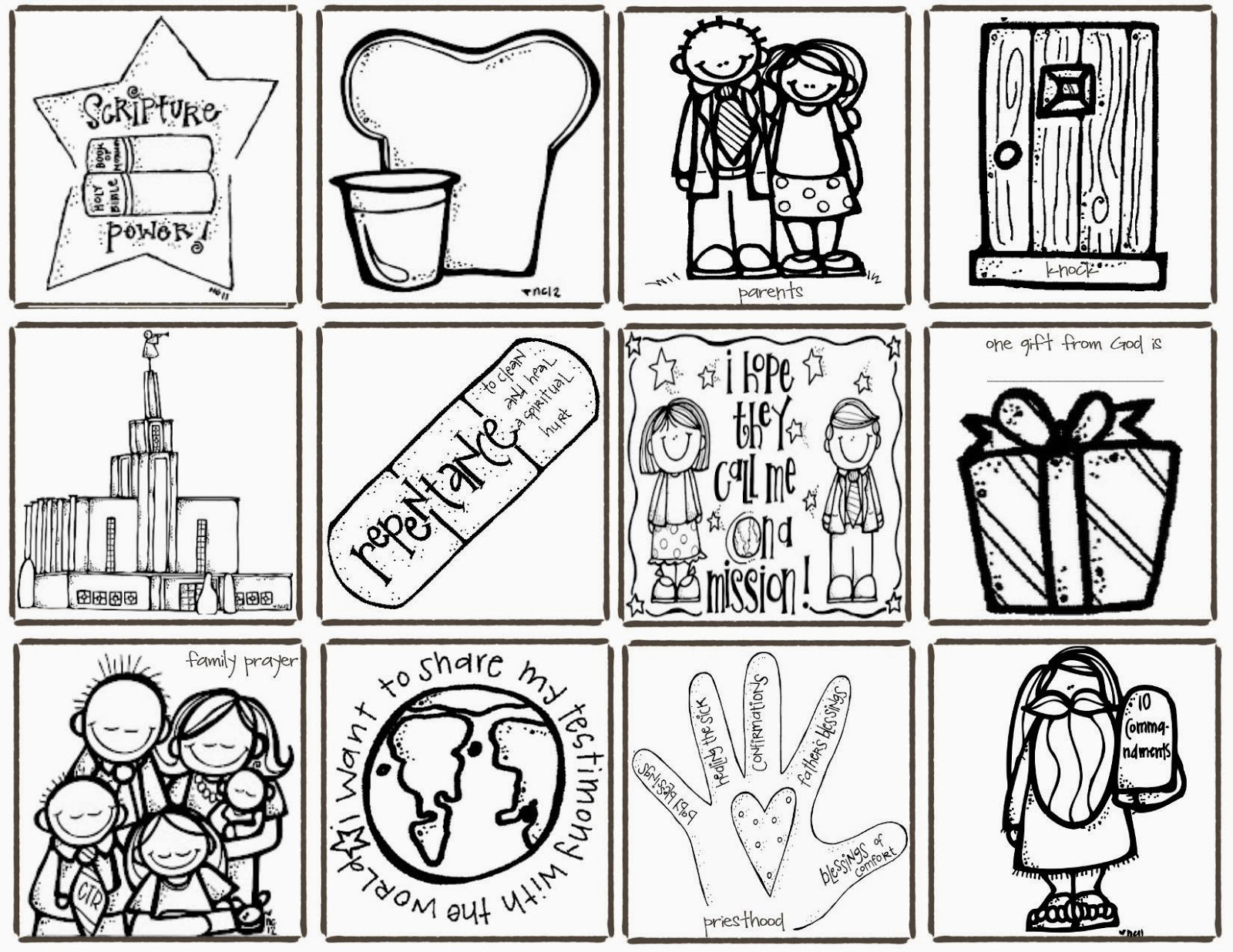 Melonheadz Lds Illustrating March 2012 Lds Sunbeam Coloring Pages