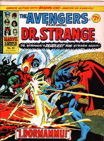 Marvel UK Avengers #63, Dr Strange and Dormammu