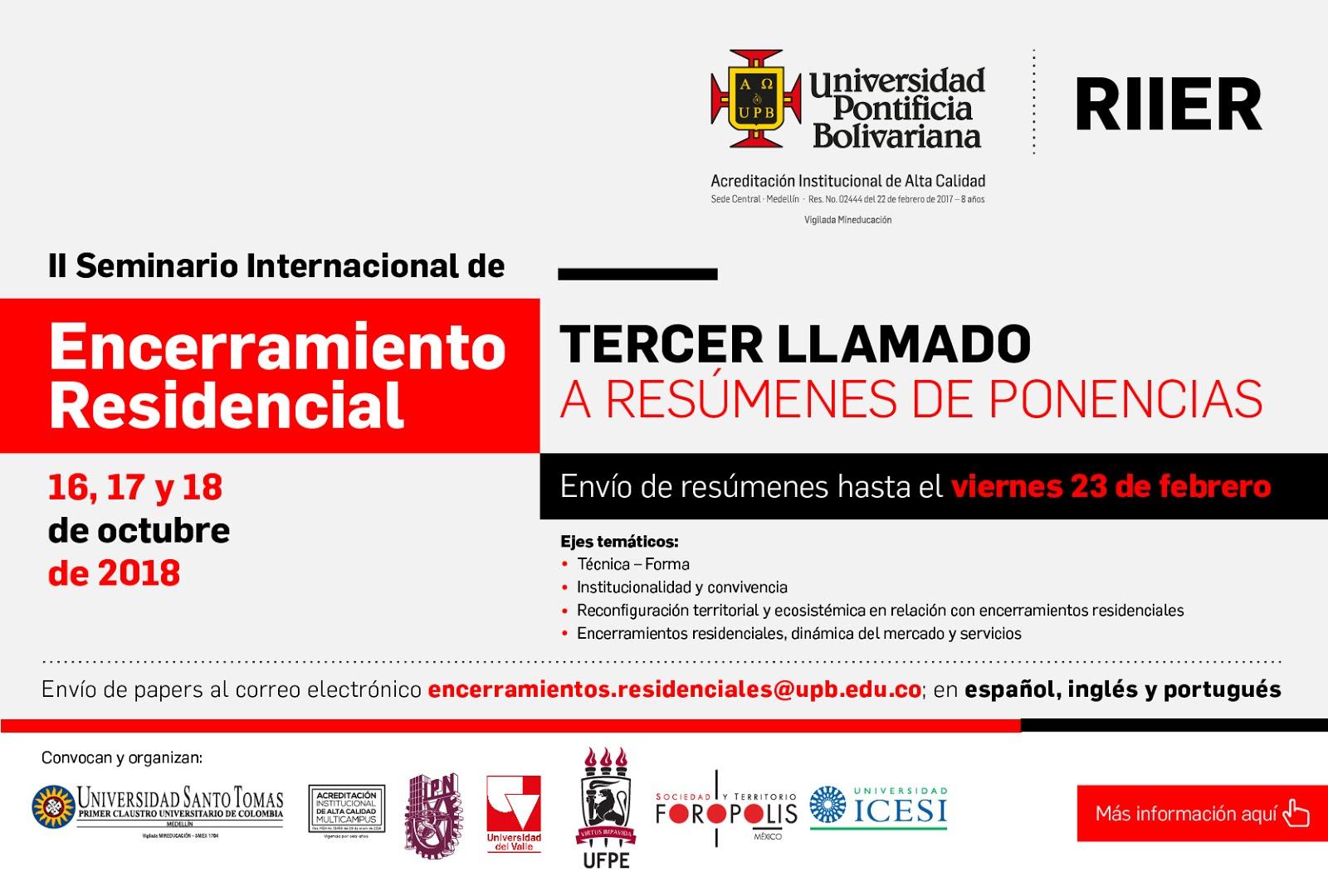 II Seminario internacional de encerramiento residencial - 16, 17 y ...