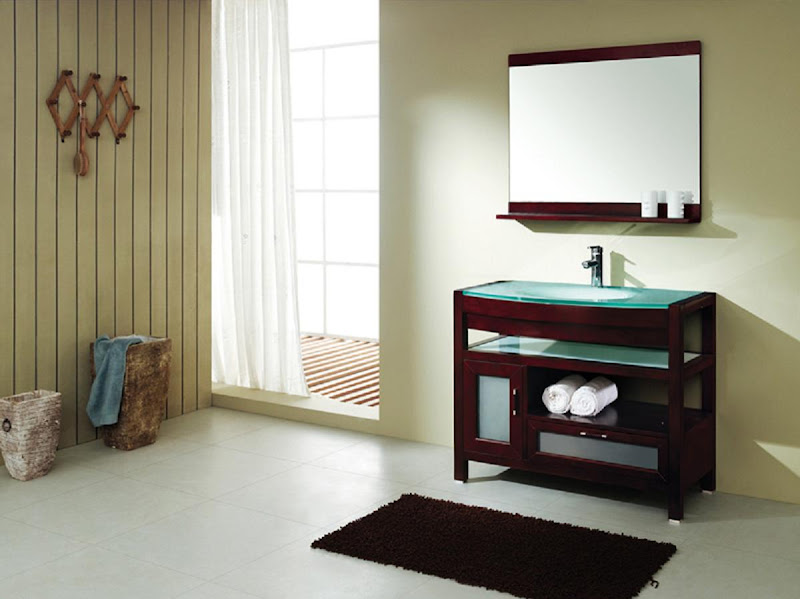 on the vanities. The whole cabiis also made from an old design title=