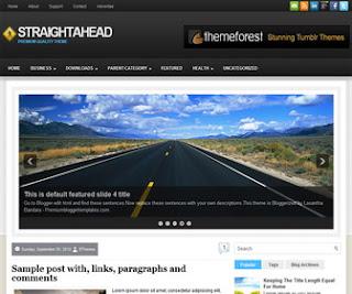 StraightAhead Blogger Template