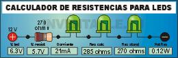 Calculador de Resistencias para Leds.