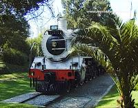 Historic locomotive in Gold Reef City - Johannesburg