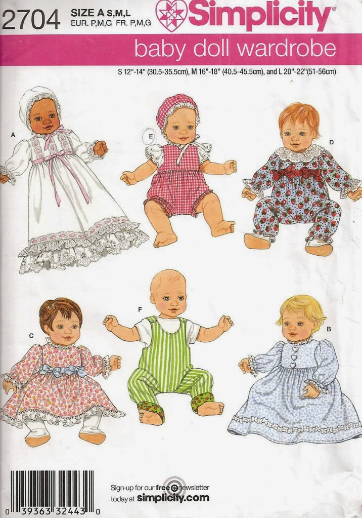 Herbie\'s Doll Sewing, Knitting & Crochet Pattern Collection ...
