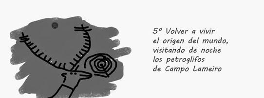 Volver a vivir el origen del mundo visitando de noche los petroglifos de Campo Lameiro