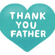 「Thank You Father」のハート型イラスト文字
